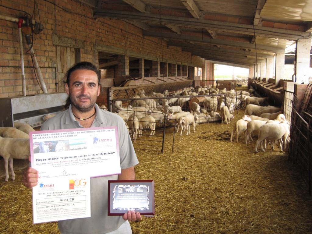 Carlos Samitier en su explotacion_Albelda