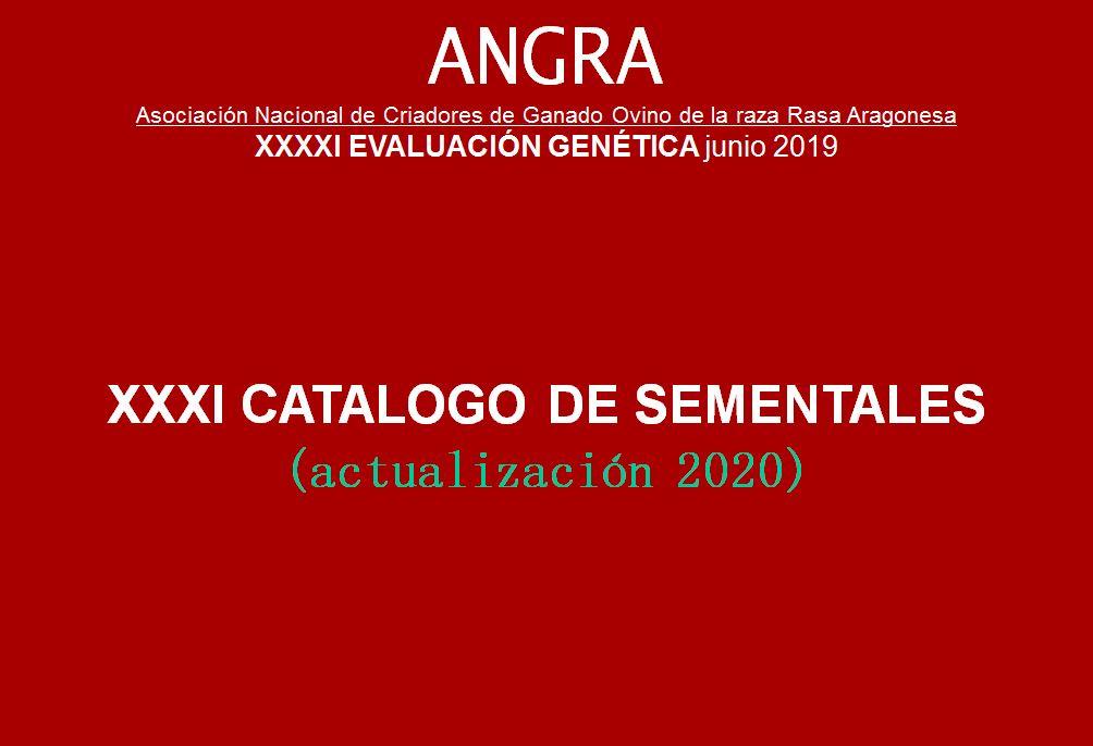 ACTUALIZACION DEL CATALOGO DE SEMENTALES DE ANGRA